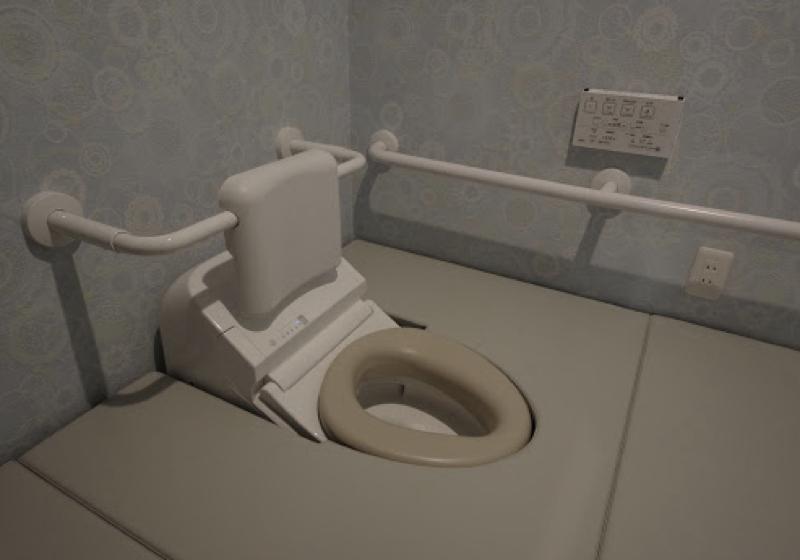 洗面室脇の2帖のスペースを、典型的なお座敷トイレ