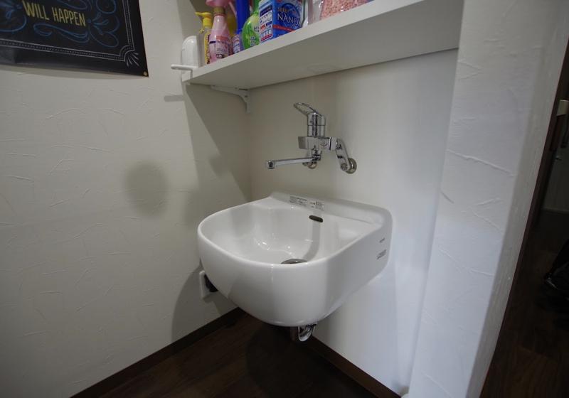 廊下のアルコーブを「多目的」な水回りスペースに