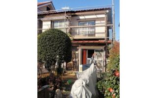 赤茶色の日本瓦に合わせた外装リフォーム