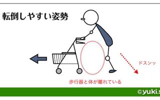 歩行器転倒防止