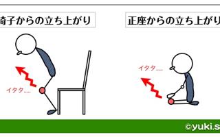 変形性膝関節症:立ち上がり動作の工夫