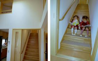 上がりやすい階段は、座りやすい階段