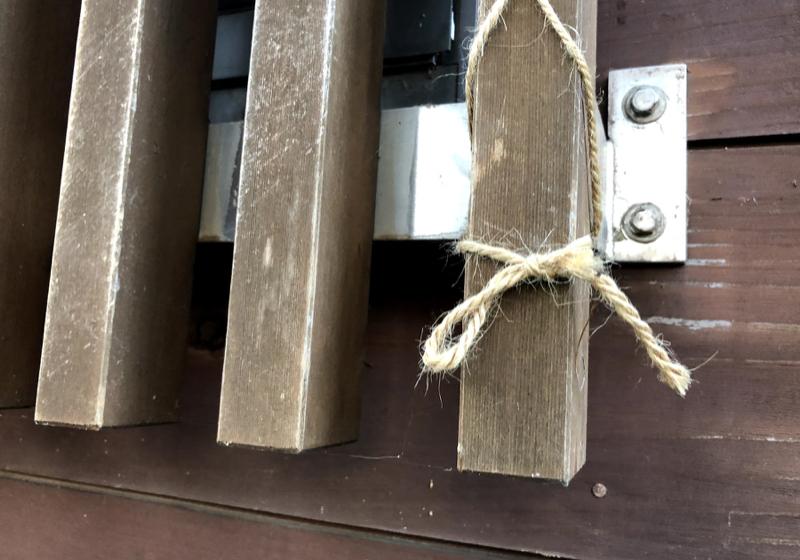 杉板に似合う木製面格子は、適材適所で製作する