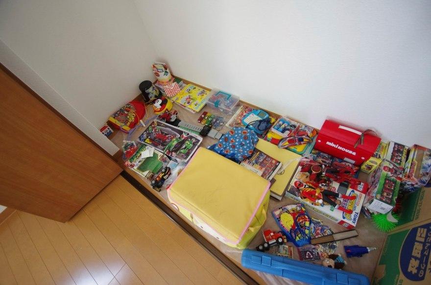 初めての個室、クローゼットには宝物がいっぱい