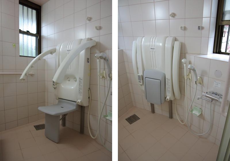 シャワー浴できる浴室に、またぎやすい木製浴槽を『後から』設置