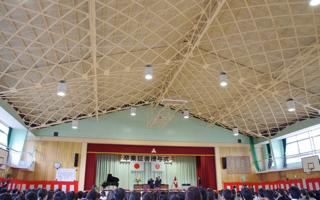 卒業式と体育館の天井構造