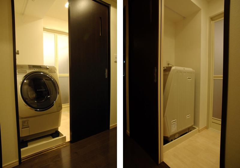 廊下から使う洗濯機(洗濯機の位置)
