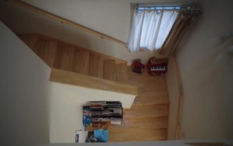 子どもさんたちに好評だった、ふたつの階段