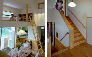 階段(3)- 不要な廊下なるべくなくす